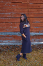 Navy/ Orange Dress