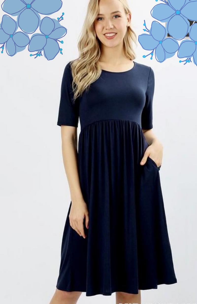 Plus Midnight Navy Midi Dress
