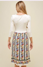 Floral Dress with waist tie