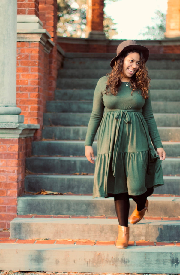 Olive Midi Dress - Proverbs 2