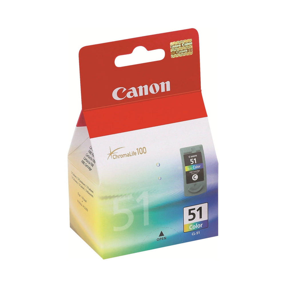 Canon CL51 Tricolor Inkjet Cartridge (0618B002) (Genuine)