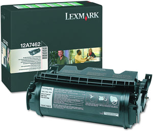 Lexmark 12A7462 Black High Yield Laser Toner Cartridge (Genuine)