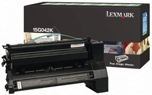 Lexmark 15G042K Black Laser Toner Cartridge (Genuine)