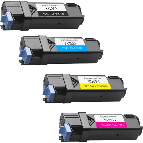 Value Set of 4 Dell 310-9058 High Yield Toners: Black / Cyan / Magenta / Yellow (Compatible Toner Cartridges)