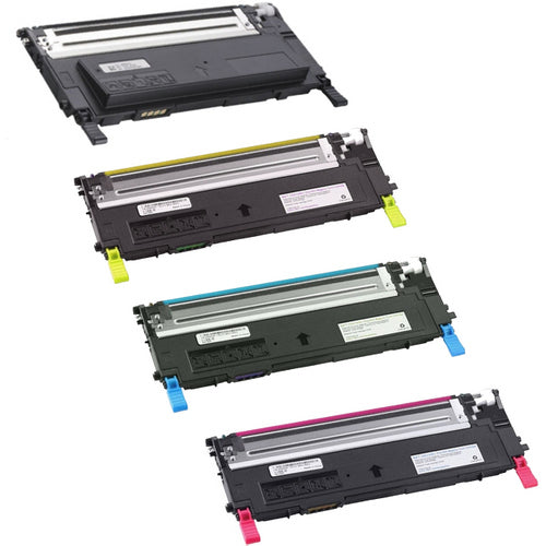 Value Set of 4 Dell 330-3012 High Yield Toners: Black / Cyan / Magenta / Yellow (Compatible Toner Cartridges)