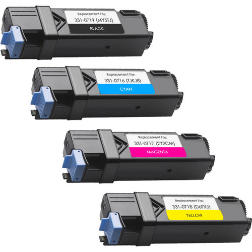 Value Set of 4 Dell 331-0719 Toners: Black / Cyan / Magenta / Yellow (Compatible Toner Cartridges)