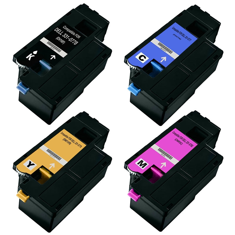 Value Set of 4 Dell 331-0778 Toners: Black / Cyan / Magenta / Yellow (Compatible Toner Cartridges)