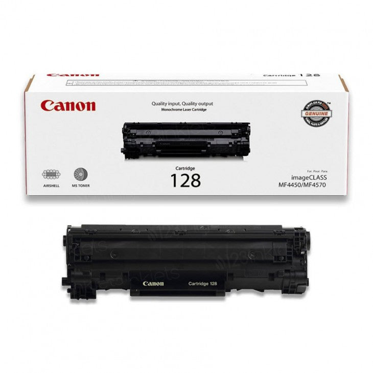 Canon 128 Black Laser Toner Cartridge (3500B001AA) (Genuine)