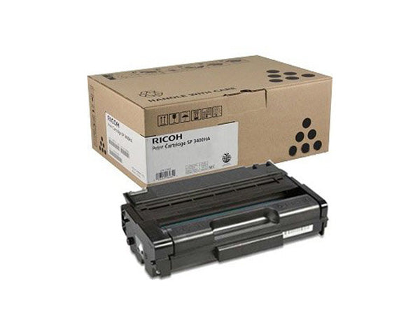 Ricoh 406464 Black Laser Toner Cartridge (SP 3400LA) (Genuine)