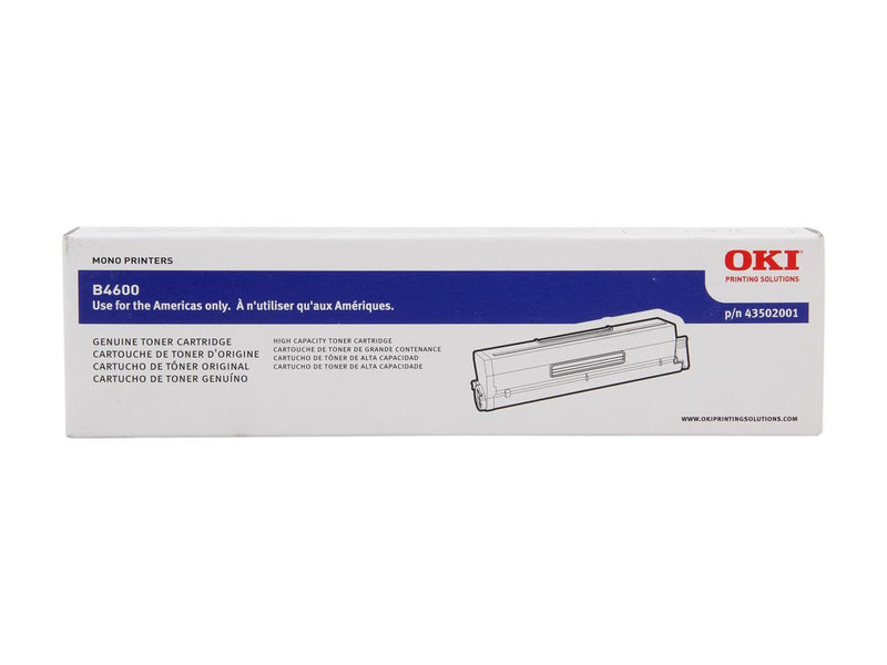 Oki-Okidata 43502001 Black High Yield Laser Toner Cartridge (Type 9) (Genuine)