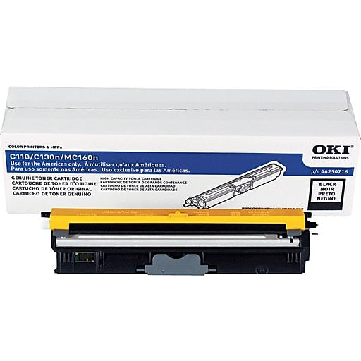 Oki-Okidata 44250716 Black Laser Toner Cartridge (Genuine)