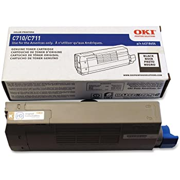 Oki-Okidata 44318604 Black Laser Toner Cartridge (Genuine)