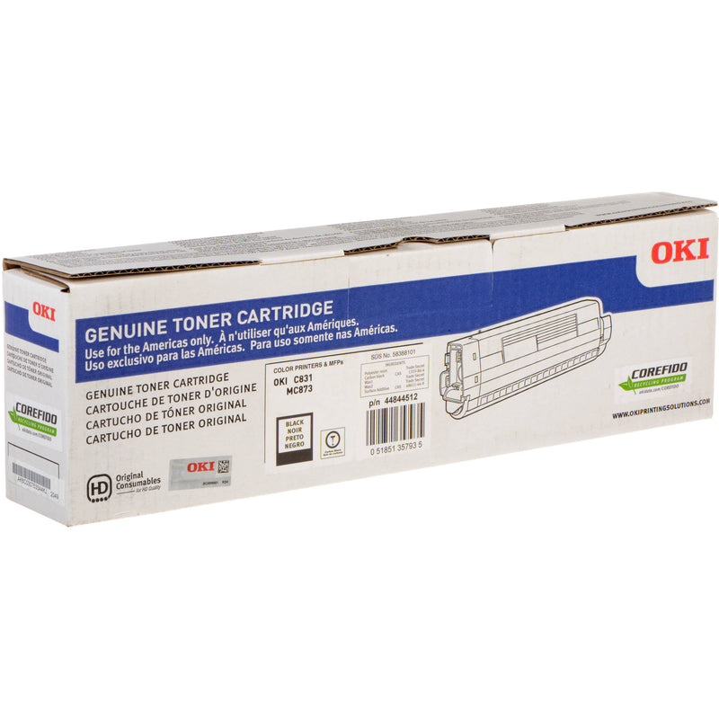 Oki-Okidata 44844512 Black Laser Toner Cartridge (Genuine)