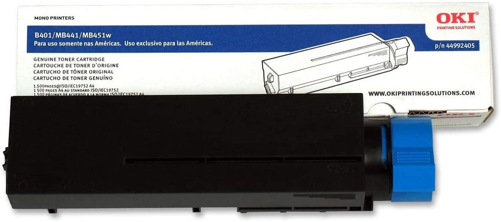 Oki-Okidata 44992405 Black Laser Toner Cartridge (Genuine)
