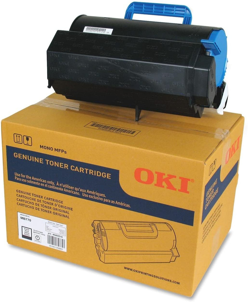 Oki-Okidata 45460510 Black Extra High Yield Laser Toner Cartridge (Genuine)