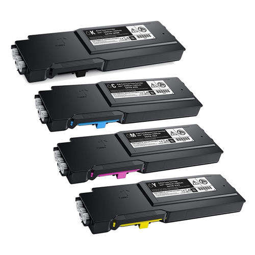 Value Set of 4 Dell 593-BCBC Toners: Black / Cyan / Magenta / Yellow (Compatible Toner Cartridges)