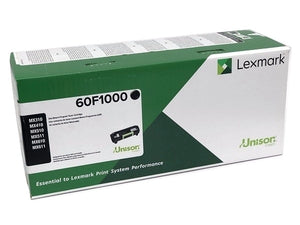 Lexmark 60F1000 Black Laser Toner Cartridge (601) (Genuine)