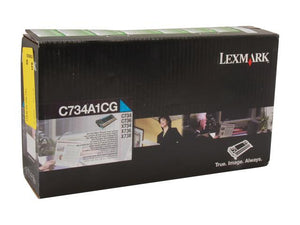 Lexmark C734A1KG Black Laser Toner Cartridge (Genuine)