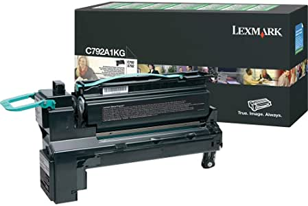 Lexmark C792A1KG Black Laser Toner Cartridge (Genuine)