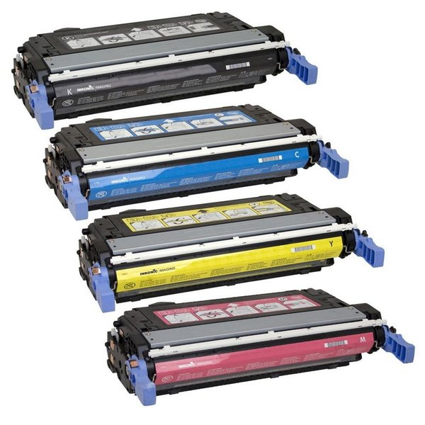 Value Set of 4 Hewlett Packard C9730A Toners: Black / Cyan / Magenta / Yellow (Compatible Toner Cartridges)