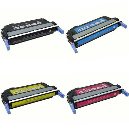 Value Set of 4 Hewlett Packard CB400A Toners: Black / Cyan / Magenta / Yellow (Compatible Toner Cartridges)