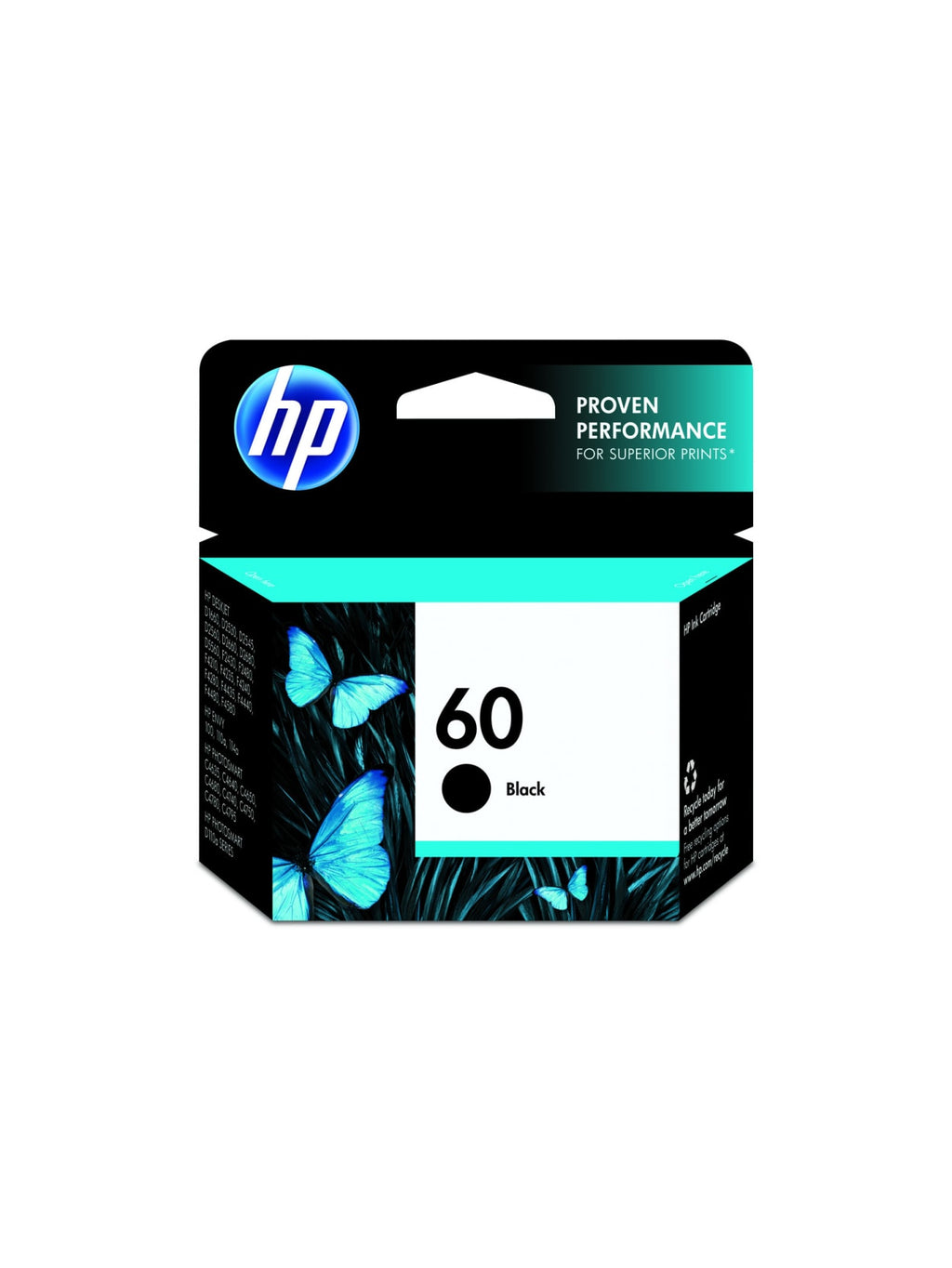 Hewlett Packard 60 Black Inkjet Cartridge (CC640WN) (Genuine)