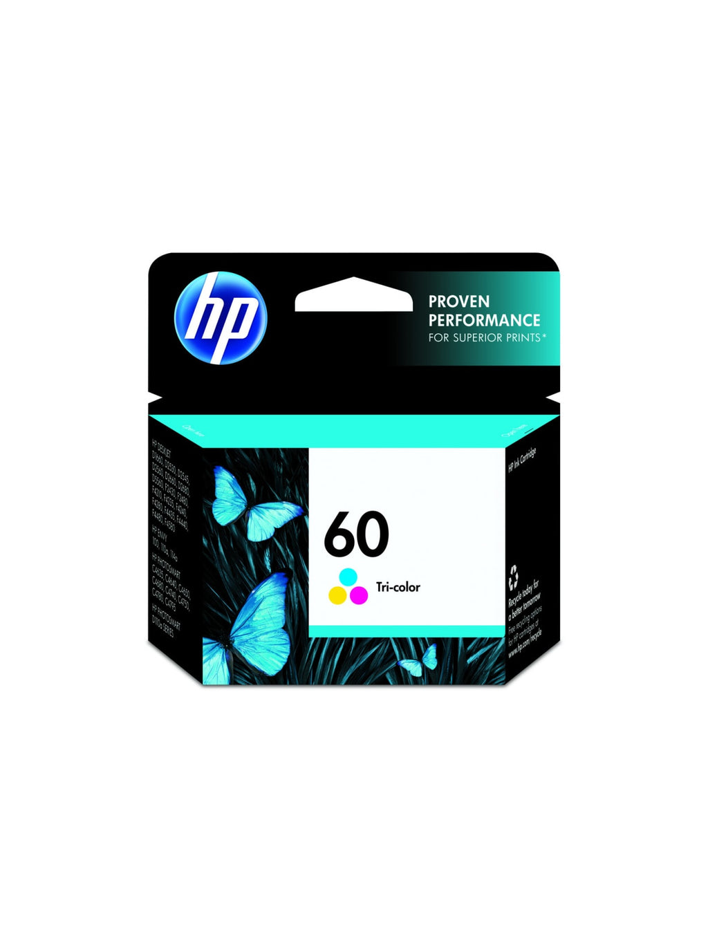 Hewlett Packard 60 Triclor Inkjet Cartridge (CC643WN) (Genuine)