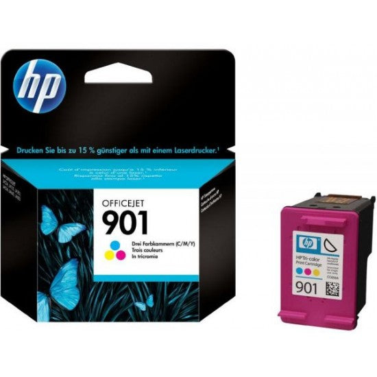 Hewlett Packard 901 Tricolor Inkjet Cartridge (CC656AN) (Genuine)