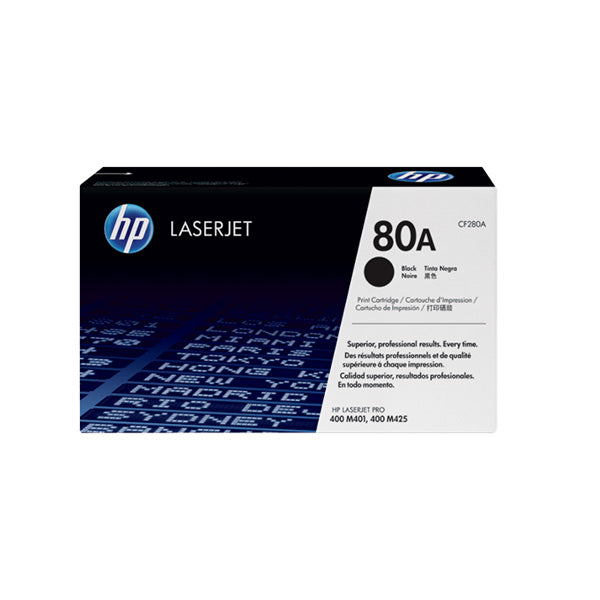 Hewlett Packard CF280A Laser Toner Cartridge (80A) (Genuine)