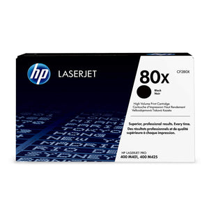 Hewlett Packard CF280X Laser Toner Cartridge (80X) (Genuine)