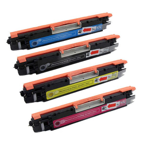 Value Set of 4 Hewlett Packard CF350A Toners: Black / Cyan / Magenta / Yellow (Compatible Toner Cartridges)