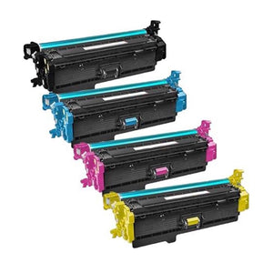 Value Set of 4 Hewlett Packard CF360X Toners: Black / Cyan / Magenta / Yellow (Compatible Toner Cartridges)