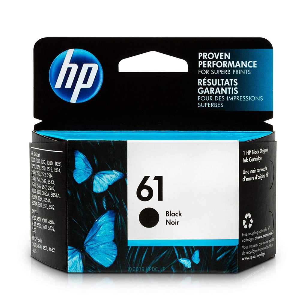 Hewlett Packard 61 Black Inkjet Cartridge (CH561WN#140) (Genuine)