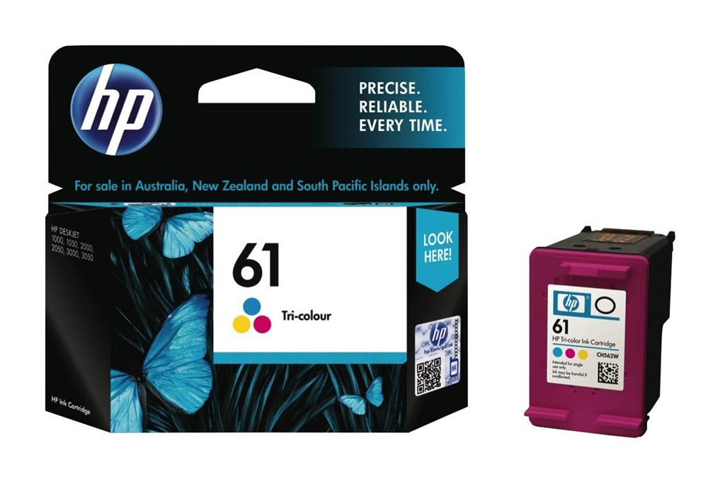 Hewlett Packard 61 Tricolor Inkjet Cartridge (CH562WN#140) (Genuine)