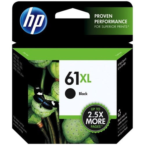 Hewlett Packard 61XL Black Inkjet Cartridge (CH563WN#140) (Genuine)