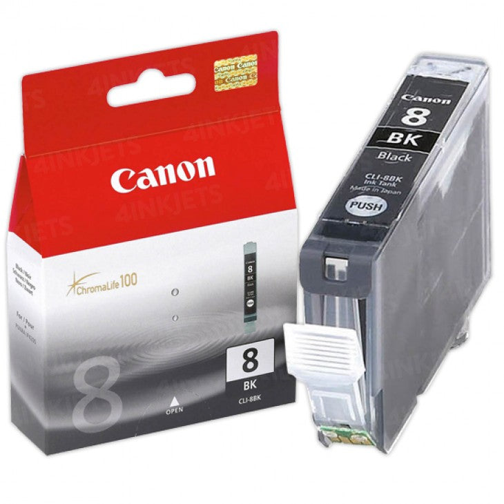 Canon CLI8BK Black Inkjet Cartridge (0620B002AB) (Genuine)