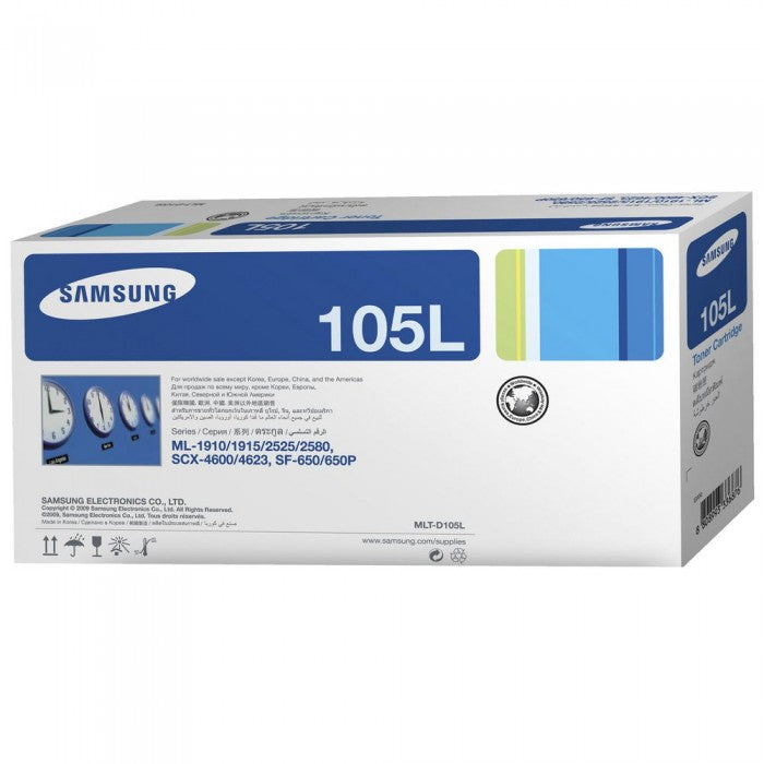 Samsung MLT-D105L Black High Yield Laser Toner Cartridge (Genuine)