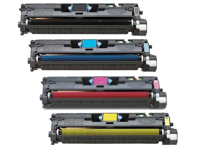 Value Set of 4 Hewlett Packard Q3960A Toners: Black / Cyan / Magenta / Yellow (Compatible Toner Cartridges)