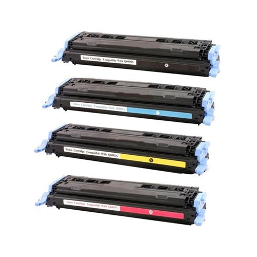 Value Set of 4 Hewlett Packard Q6000A Toners: Black / Cyan / Magenta / Yellow (Compatible Toner Cartridges)