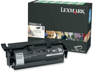 Lexmark T650A11A Black Laser Toner Cartridge (Genuine)