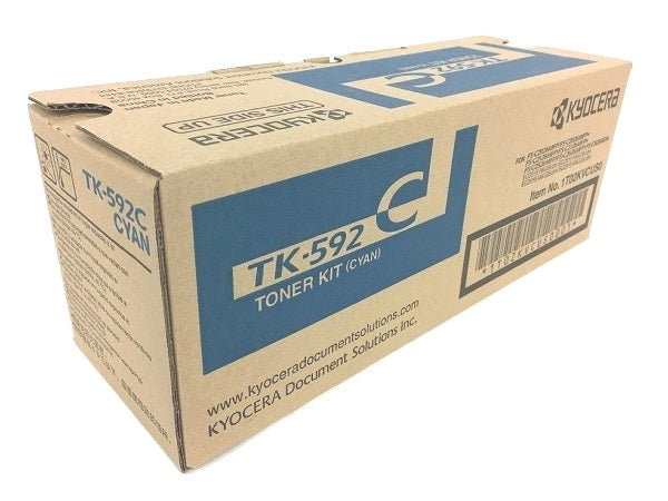 Kyocera-Mita TK592K Black Laser Toner Cartridge (Genuine)