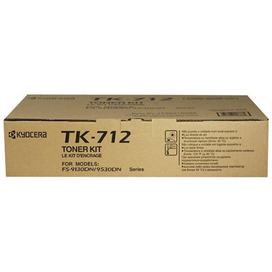 Kyocera-Mita TK712 Black Laser Toner Cartridge (Genuine)