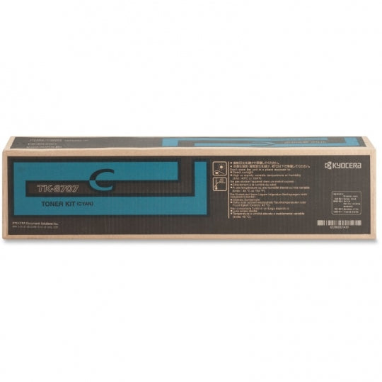 Kyocera-Mita TK8707K Black Laser Toner Cartridge (Genuine)
