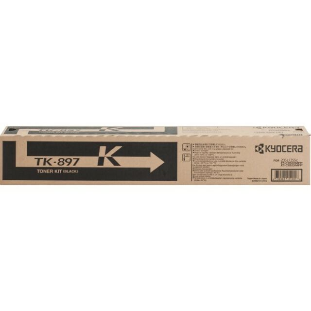 Kyocera-Mita TK897K Black Laser Toner Cartridge (Genuine)