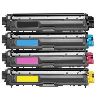 Value Set of 4 Brother TN 221 Toners: Black / Cyan / Magenta / Yellow (Compatible Toner Cartridges)