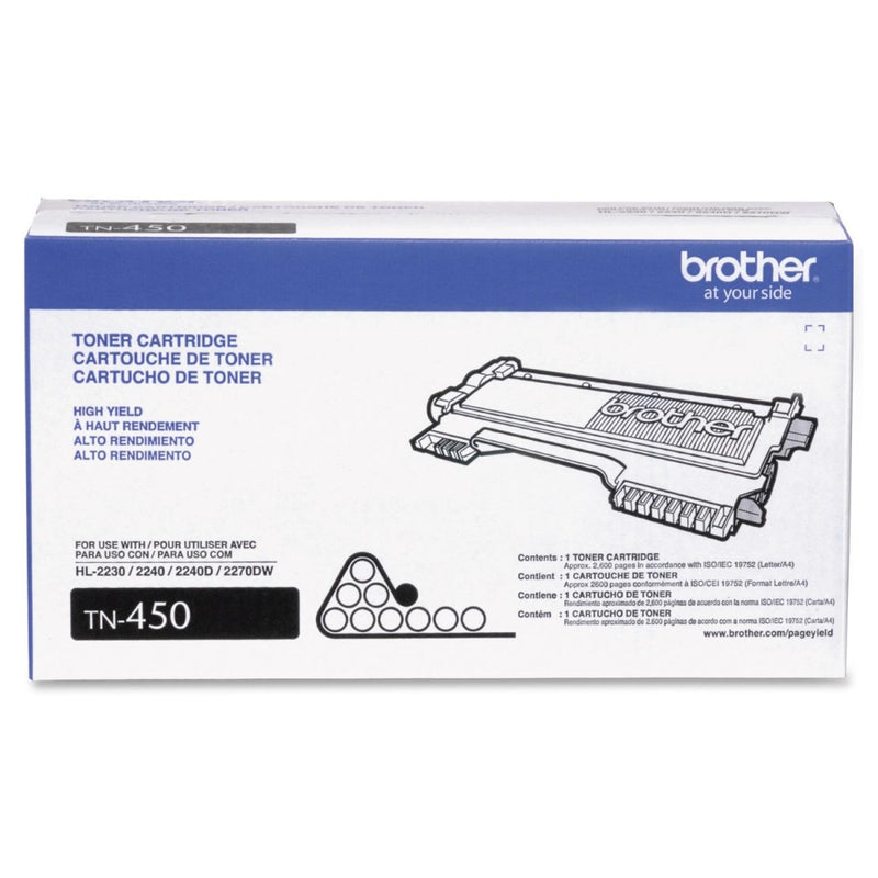 Brother TN450 High Yield Black Laser Toner Cartridge (Genuine)