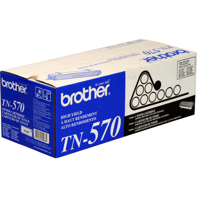 Brother TN570 High Yield Black Laser Toner Cartridge (Genuine)