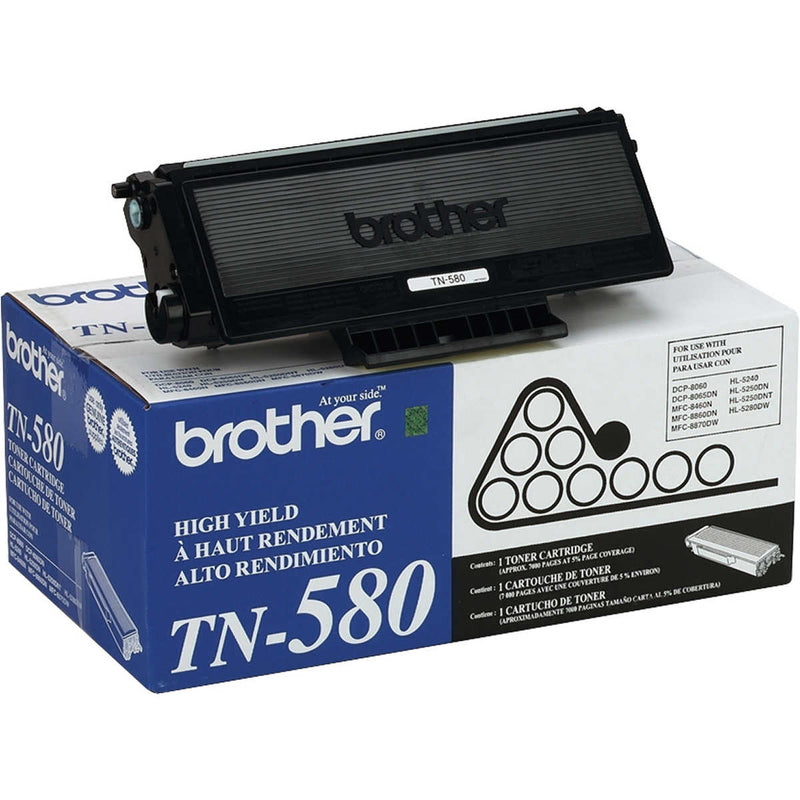 Brother TN-580 Black Laser Toner Cartridge (Genuine)