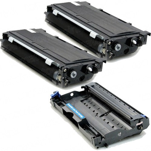 Special Pack of Brother 2-TN350 Black Toner & Drum Unit DR350 (Compatible Cartridge)