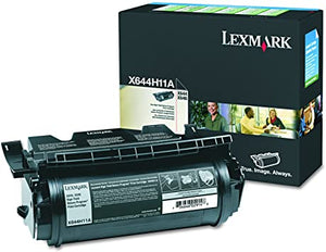 Lexmark X644H11A Black High Yield Laser Toner Cartridge (Genuine)